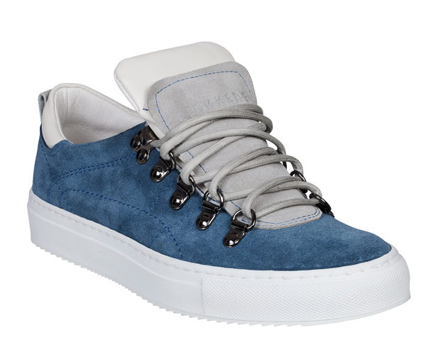 low top sneaker jeans blauw van linkkens