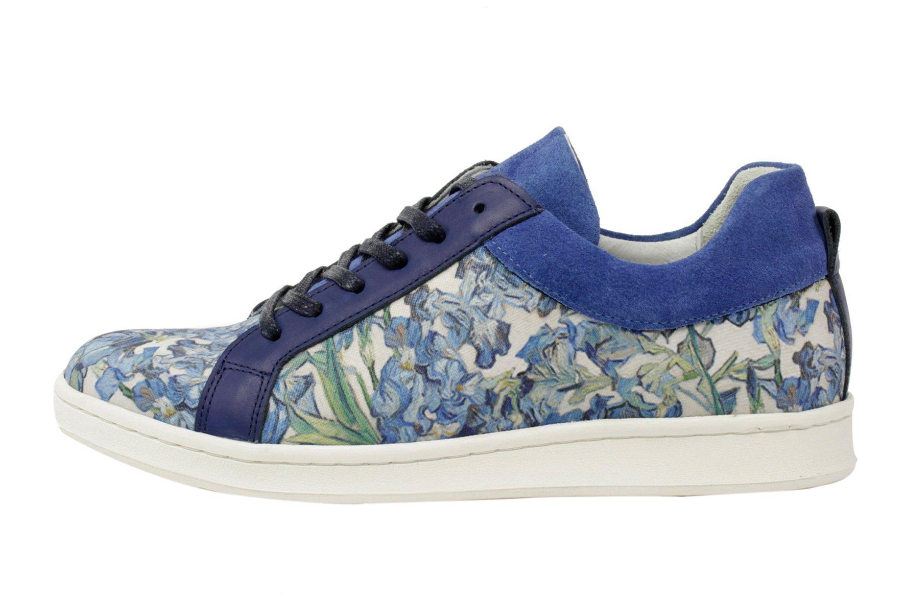Sneakers Met Licht : Linkkens licht blauwe sneakers met thema iris van vincent van gogh